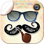 Hipster Stickers Photo Editor Icon