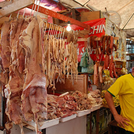 Butcher, Market in Salvador de Bahia, Brazil by Isabelle Ebens - Food & Drink Meats & Cheeses ( market, salvador de bahía, butcher )