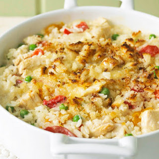 Chicken Alfredo and Rice Casserole