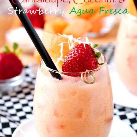 Cantaloupe and Coconut Berry Agua Fresca