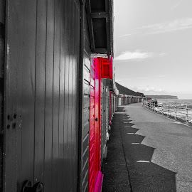 Whitby beach huts by Rob Willis - Buildings & Architecture Other Exteriors ( water, sand, sea, whitby, seaside, beach )