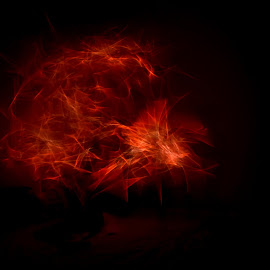 Fire by Sunil Pawar - Abstract Light Painting ( lights, light painting, indoor, light sticks, dark, fire )