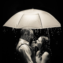 Rainy Night by Nici Pelser - Wedding Bride & Groom