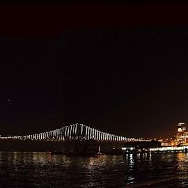 Port of San Francisco by Jaideep RC Banerjee - City,  Street & Park  Night