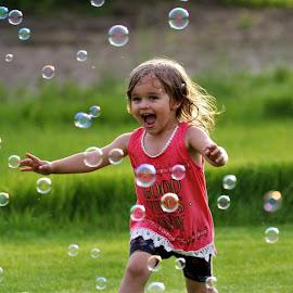Bubble fun by Karen McLarnon - Babies & Children Children Candids (  )