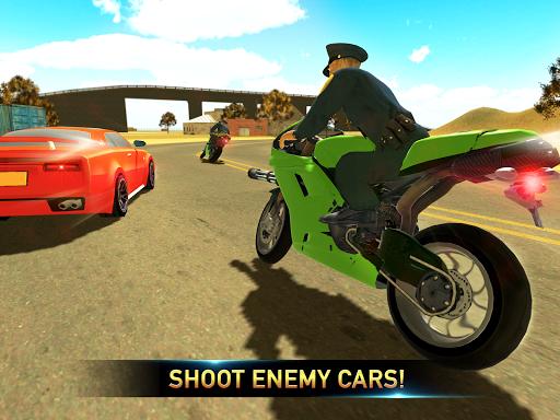 Police Bike Shooting - Gangster Chase Car Shooter screenshot 8