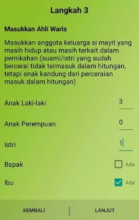 Aplikasi Waris Islam - screenshot