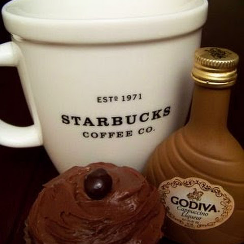 Mocha Cupcakes with Godiva Liqueur Chocolate Frosting