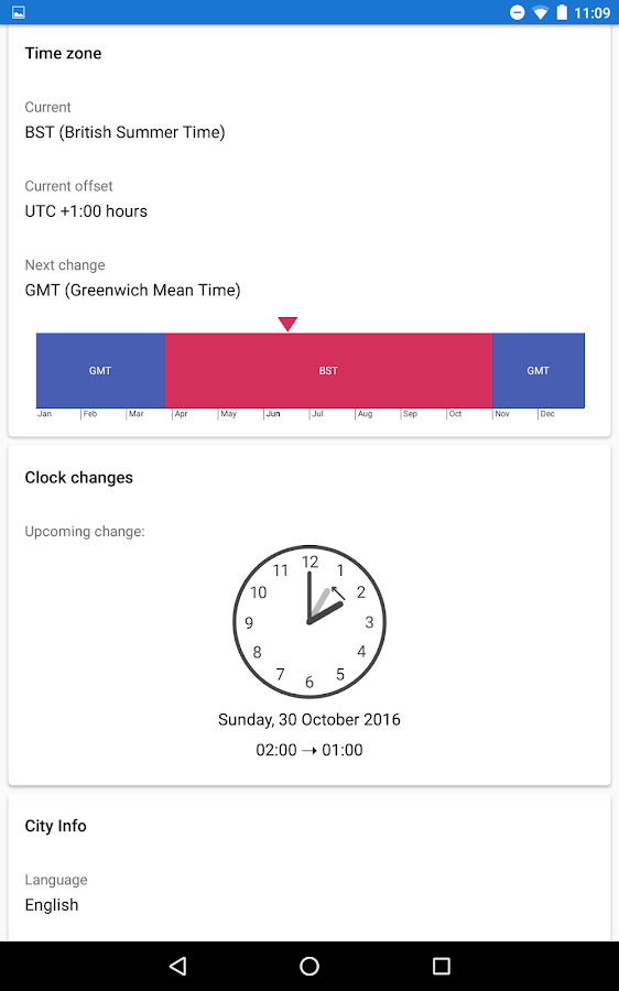 World Clock by timeanddate.com Screenshot 19