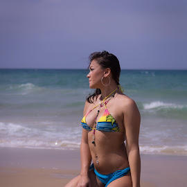 Beach girl by Alex Stark - People Fashion ( sexy, girl, swimsuit, beautiful, sea, beach,  )