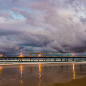 Stormfront by Joseph Callaghan - Landscapes Beaches ( reflection, australia, moody, beach, storm )