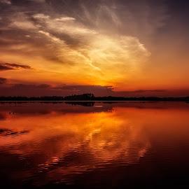 Calming by Linda Karlin - Landscapes Sunsets & Sunrises ( sunset, landscape )