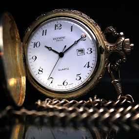 Pocket Watch - Reflection by Phil Le Cren - Artistic Objects Jewelry ( pocket watch, watch, jewelry )