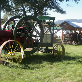 Old tractors at Dublin fall festival in NH by Stephen Deckk - Artistic Objects Antiques