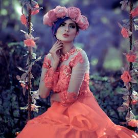 Alone by Banyu Hadiy Al-haqi - People Portraits of Women ( model, fashion )