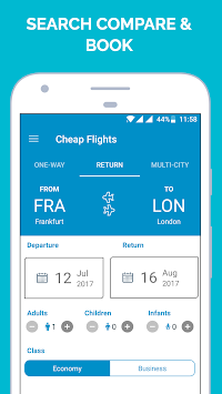 Cheap Flights By Flight Booking App APK screenshot thumbnail 1