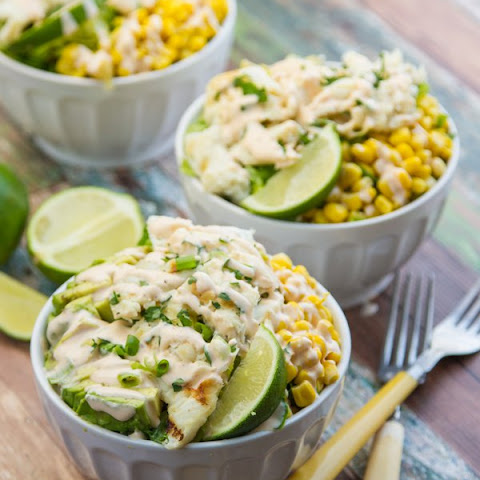 Fish Taco Salad with Creamy Chipotle Dressing