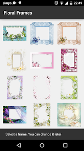 Floral photo Frames - screenshot