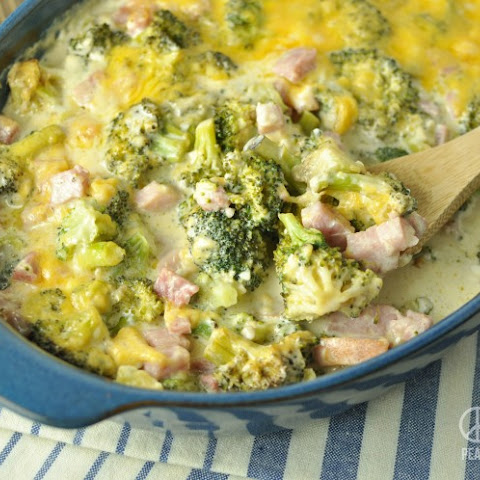 Three Cheese Ham and Broccoli Casserole – Low Carb, Gluten Free