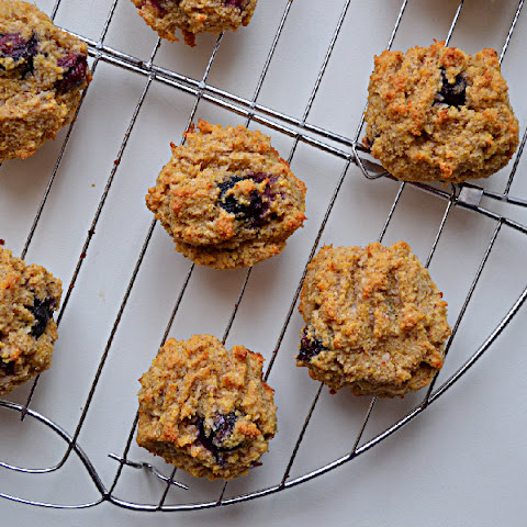 Blueberry Coconut Macaroon Cookies