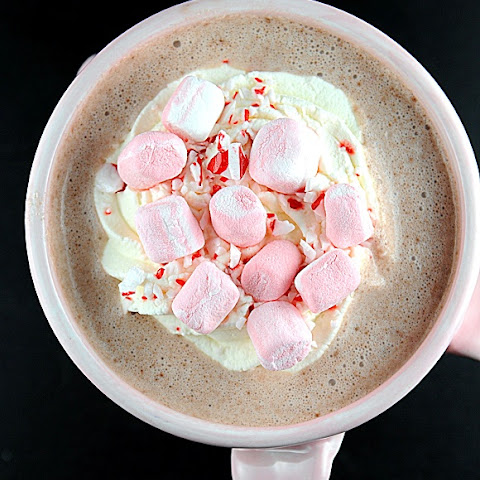 Boozy Peppermint Slow Cooker Hot Chocolate