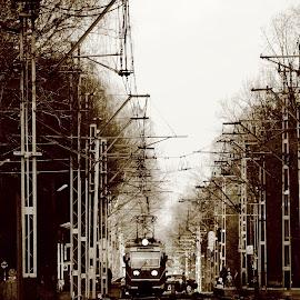 The retro train:) by Marcin Chmielecki - Transportation Trains