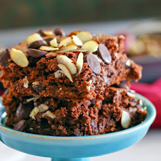 Dark Chocolate & Almond Dump Cake