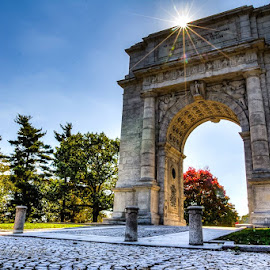 The Arch at Valley Forge  by Jerry Keefer - Buildings & Architecture Statues & Monuments