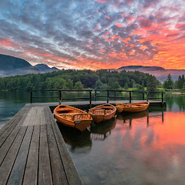 Bohinj lake  by Aleš Krivec - Buildings & Architecture Bridges & Suspended Structures ( beautiful, slovenia, dramatic, natur, scenery, travel, landscape )