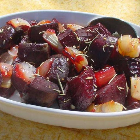 Roasted Beets and Onions