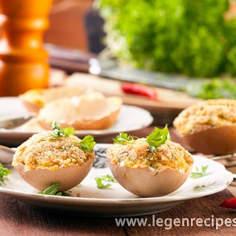 Stuffed Eggs, Baked In The Shell