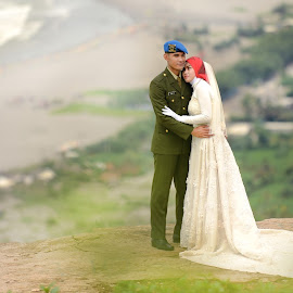 soldier and lover by Janiar Putra - Wedding Bride & Groom