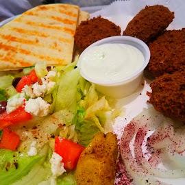 Falafel by Vijay Govender - Food & Drink Plated Food