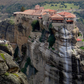Meteora houses. by Aurel Virlan - Buildings & Architecture Other Exteriors ( meteora greece, suspended monastery )