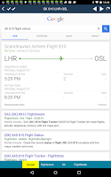 Screenshot of Oslo Airport + Flight Tracker