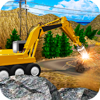 Heavy Excavator Stone Driller Simulator For PC