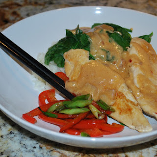 Thai Peanut Chicken With Spinach Recipes