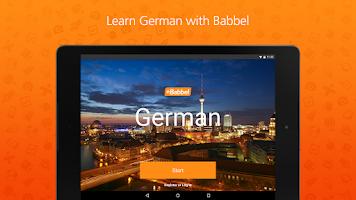 Screenshot of Learn German with Babbel