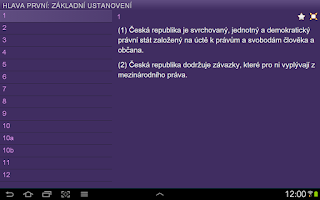 Screenshot of Constitution of Czech Republic