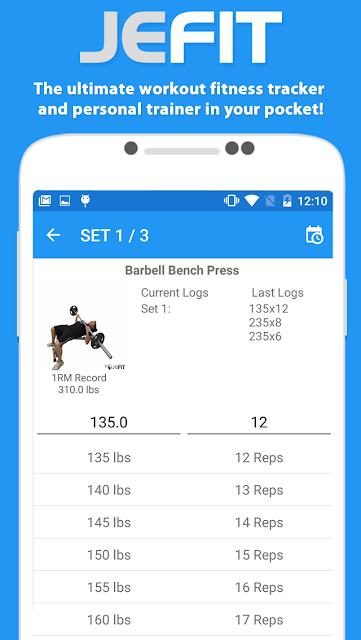 JEFIT Workout Tracker Gym Log screenshots