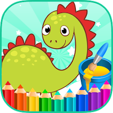 Coloring Book Animals Dinosaur