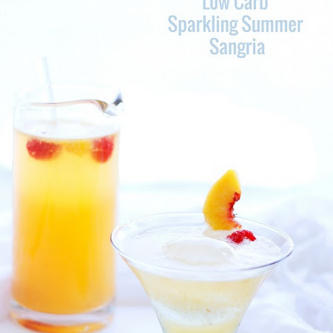 Low Carb Sparkling White Sangria