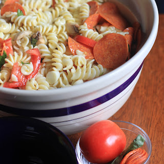 Caprese Pasta Salad with Pepperoni