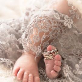 I Thee Wed by Tracey Pogson - Babies & Children Hands & Feet ( wedding, baby, scarf, newborn )