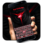 Red Technology Keyboard Icon