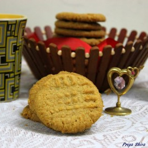 Eggless Almond Peanut Butter Cookies