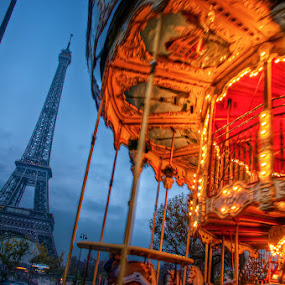 Eiffel tower by Petko Slavov - Travel Locations Landmarks ( colour, paris, tower, hdr, color., eiffel )
