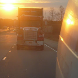 highway sunset by Eric Mcdermott - Transportation Other