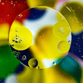 Bubbles by Carol Ward - Abstract Macro ( abstract, bubble art, macro, abstract art, bubbles, oil bubbles )
