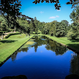 Studley Royal Water Gardens by Mandy Hedley - Landscapes Travel ( water, park, royal, studley, reflections, gardens )